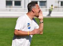 Liga Moravian-Silesia, primer entrenador Milano Duhan Fotografía de archivo libre de regalías