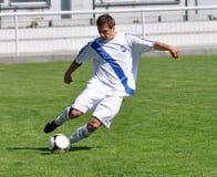 Liga Moravian-Silesian, jogador de futebol Erik Talian Foto de Stock