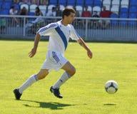 Liga Moravian-Silesian, jogador de futebol M. Schustrik Imagem de Stock Royalty Free