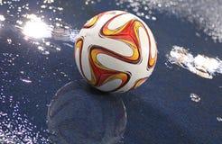 Liga oficial del Europa de la UEFA 2014/15 bola de la estación Foto de archivo libre de regalías
