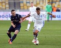 Liga primera ucraniana: Dínamo Kyiv v Olimpik en Kyiv imagen de archivo