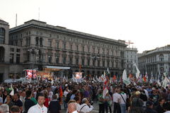 Liga septentrional Milan October 18, 2014 Fotografía de archivo