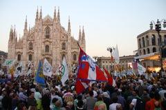 Liga septentrional Milan October 18, 2014 Imagenes de archivo