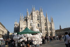 Liga septentrional Milan October 18, 2014 Imágenes de archivo libres de regalías