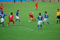 Liga super do futebol de 2008 chineses Fotografia de Stock Royalty Free