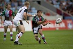 Liga v van het Rugby van harlekijnen de Stieren van Bradford Royalty-vrije Stock Foto's