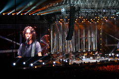 Ligabue San Siro Milan July 16, 2010 Royalty Free Stock Images