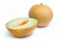 Ligamaza del melón y una mitad Foto de archivo libre de regalías