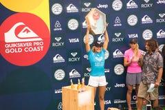 Ligan 2017 för Stephanie Gilmore Winner världsbränning turnerar arkivbild