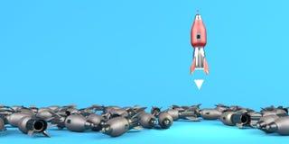 Ligando o foguete ilustração do vetor