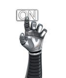 Ligar da mão do robô Imagens de Stock Royalty Free