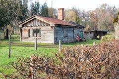 Ligatne,拉脱维亚小村镇看法  库存照片