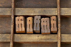 Ligature letterpress printing blocks Royalty Free Stock Photo