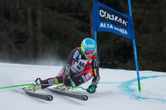 LIGETY Ted (USA). Alta Badia, ITALY 22 December 2013. LIGETY Ted (USA) competing in the Audi FIS Alpine Skiing World Cup MEN'S GIANT SLALOM Royalty Free Stock Images