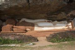 Ligga för Buddha Sigiriya Sri Lanka Arkivfoton