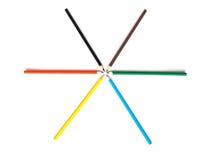 ligga för crayons Royaltyfri Foto