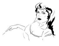 Ligga för flicka stock illustrationer