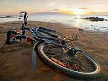 ligga för strandcykel Royaltyfri Foto