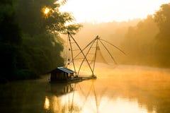Liggande av floden royaltyfria foton
