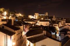 Liggande av Obidos, Portugal Arkivbild