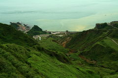 liggande bergiga taiwan Arkivfoton