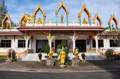 Liggande Buddhastaty Arkivbild