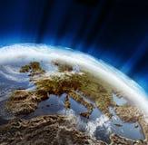 liggande för 3d Europa Arkivbild