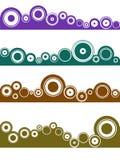 liggande för 4 element vektor illustrationer