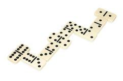 liggande formorm för domino fotografering för bildbyråer