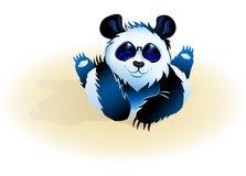 Liggande gullig panda Arkivbilder