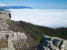 Liggande i Crimea Fotografering för Bildbyråer