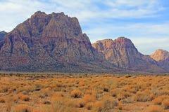Liggande i den röda Rockkanjonen, Nevada royaltyfria bilder