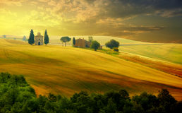 Liggande i Tuscany Fotografering för Bildbyråer