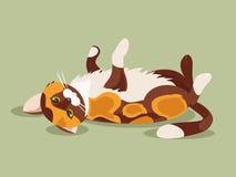 Liggande katt också vektor för coreldrawillustration Arkivfoto