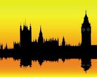 liggande london Arkivfoto