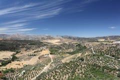 Liggande nära Ronda, Spanien royaltyfria bilder