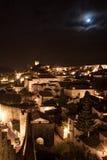 Liggande Obidos, Portugal Arkivfoton