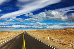 liggande patagonian Arkivbild