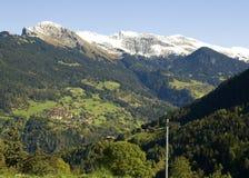 liggande pittoreska switzerland Arkivbild