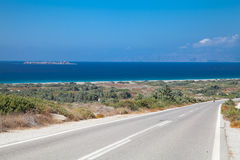 Liggande Rhodes Arkivbilder