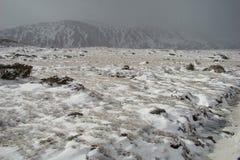 liggande snöig pyrenees Royaltyfri Bild