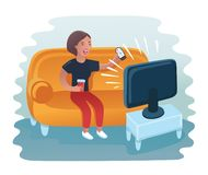 liggande sofakvinna vektor illustrationer