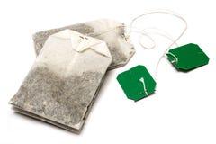 liggande teabags två Arkivfoton