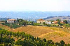liggande tuscan royaltyfri fotografi
