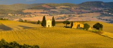 liggande tuscan Härlig Tuscan morgon Arkivbilder