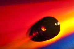 liggande vatten för cd diskettdroppe Royaltyfri Foto