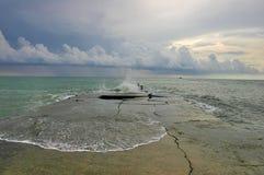 liggandehavsstorm Royaltyfri Fotografi
