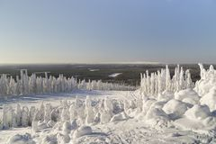 liggandelapland vinter Arkivbilder