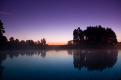 liggandemorgon Arkivbilder