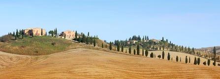 liggandepanorama tuscan Arkivbilder